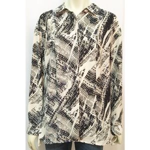 silence + noise Large Animal Print Button Down